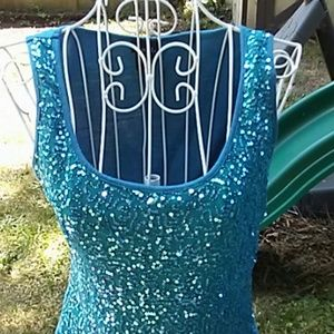 🔶🔶3 for $13 RUE 21 Teal Bling Tank Top